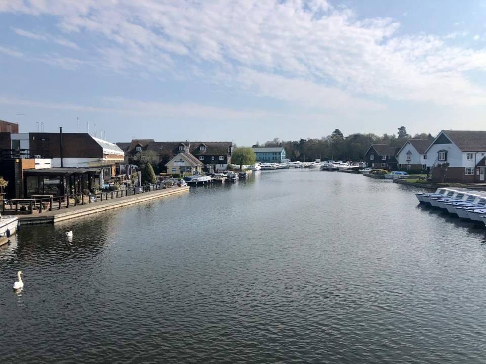 View from Wroxham Bridge