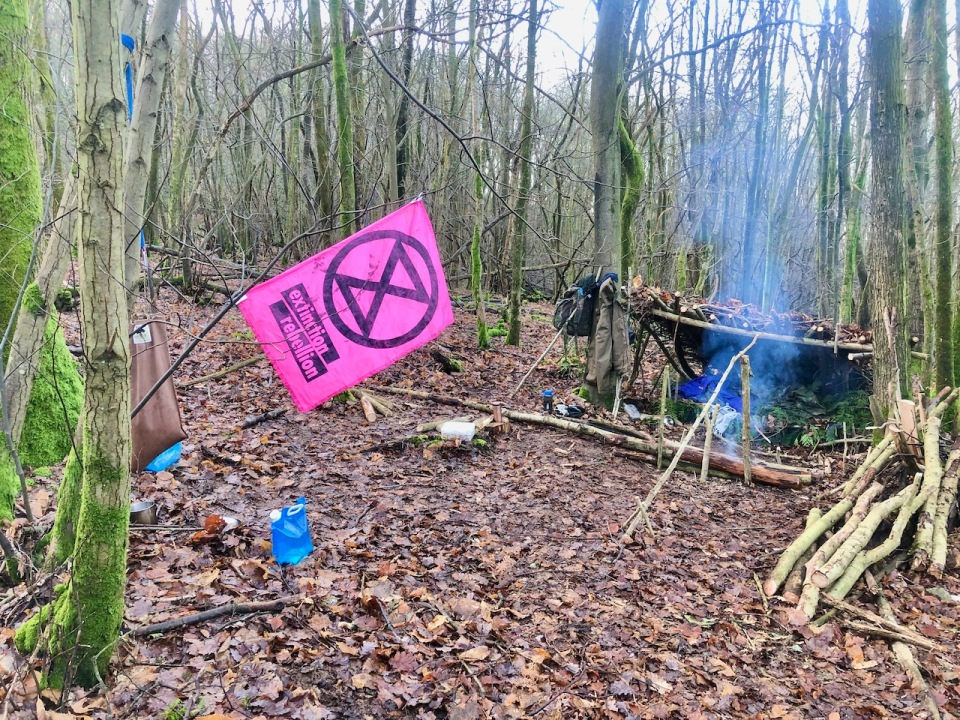 Camp complete with XR flag